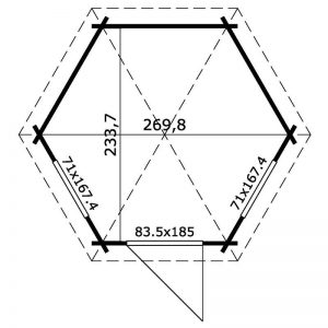 Hexagonal Cabin Plan