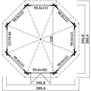 Octagonal Cabin Plan View