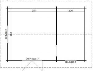 Rectangular Cabin Plan