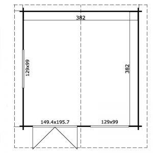 Square Cabin Plan