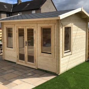 Log Cabin Poolhouse 4m x 3m