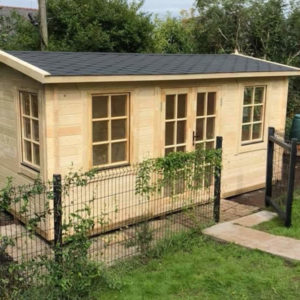 Log Cabin Poolhouse 5m x 3m